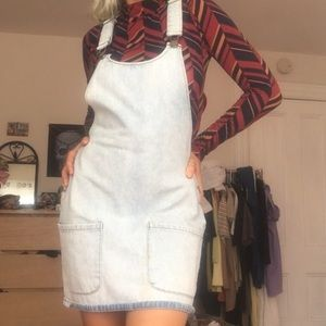 Acid washed Denim Overall Dress
